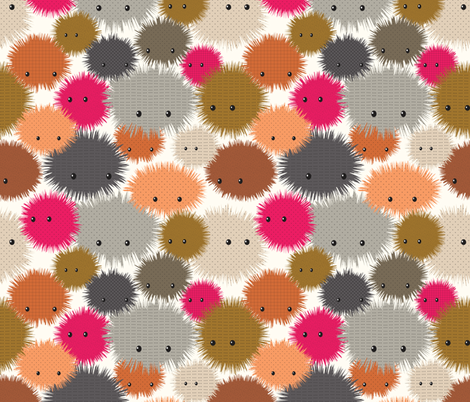 Plushies fabric by kimsa on Spoonflower - custom fabric