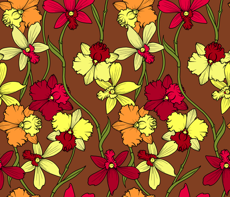 Orchids Neutral fabric by jadegordon on Spoonflower - custom fabric