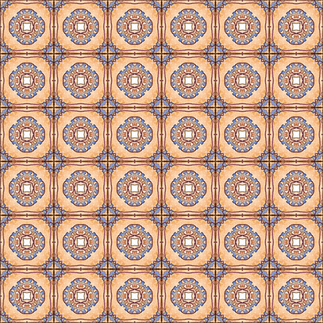 Mission Tiles fabric by siya on Spoonflower - custom fabric