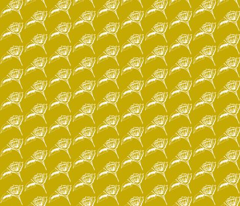 Mustard Roses-ch-ch fabric by littlebeardog on Spoonflower - custom fabric