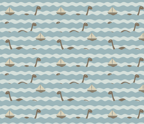 Nessie fabric by creativebrenda on Spoonflower - custom fabric