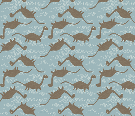 Floating Nessie fabric by creativebrenda on Spoonflower - custom fabric