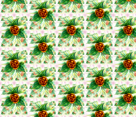 Yellow rose fabric by vinkeli on Spoonflower - custom fabric