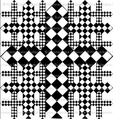 checkerboard crosses