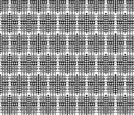checkerboard crosses fabric by vinkeli on Spoonflower - custom fabric