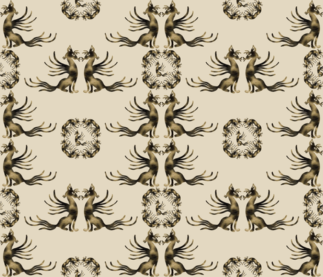 Catbird_Seated fabric by lisa_binion on Spoonflower - custom fabric