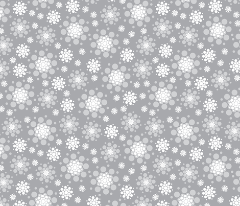 SnowBurst fabric by cynthiafrenette on Spoonflower - custom fabric
