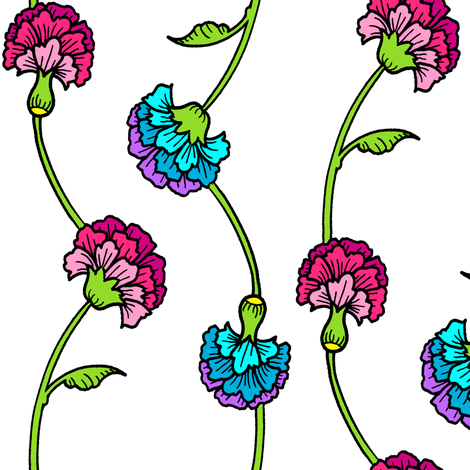 Carnation Brights fabric by jadegordon on Spoonflower - custom fabric