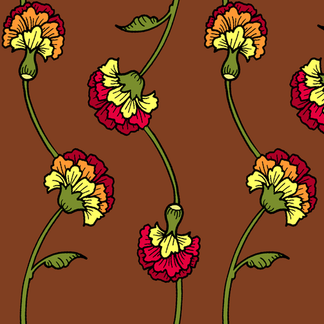 Carnation Naturals fabric by jadegordon on Spoonflower - custom fabric