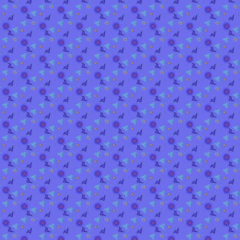 ©2011 Blue Fragments 04 fabric by glimmericks on Spoonflower - custom fabric