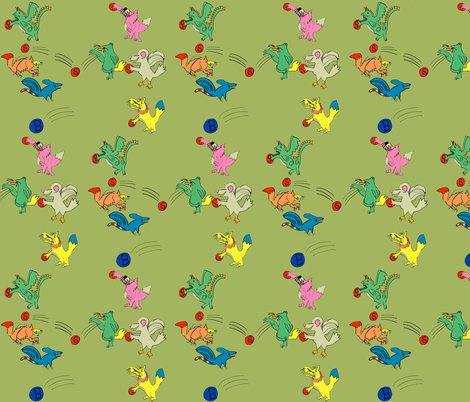 Imaginary Dodge-Ball by my 8yr old fabric by joybucket on Spoonflower - custom fabric
