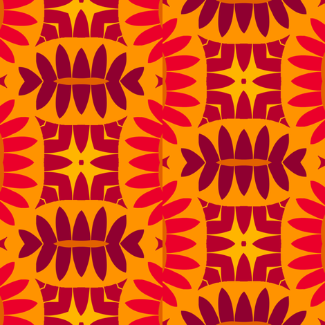 Mandorle (Warm Colours) fabric by nekineko on Spoonflower - custom fabric