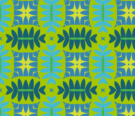 Mandorle (Cool Colours) fabric by nekineko on Spoonflower - custom fabric