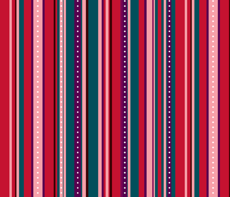 Coordinate Stripes 6 fabric by jadegordon on Spoonflower - custom fabric