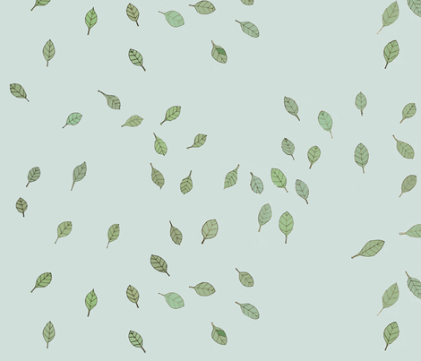 flying leaves fabric by alessandra-spada on Spoonflower - custom fabric