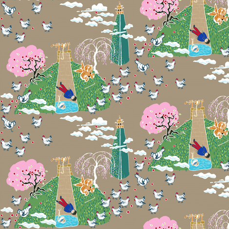 Tikki Tikko Tembo fabric by joybucket on Spoonflower - custom fabric