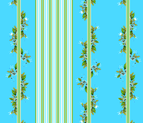 Vine Turquoise fabric by joanmclemore on Spoonflower - custom fabric