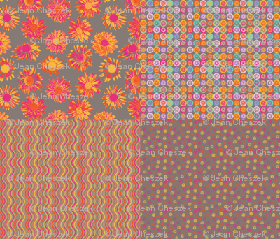 Fun Daisy Coordinates - 4-in-1 collection