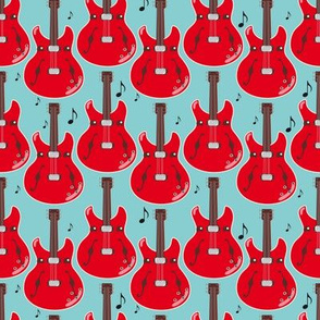 Guitar fabric (orange)