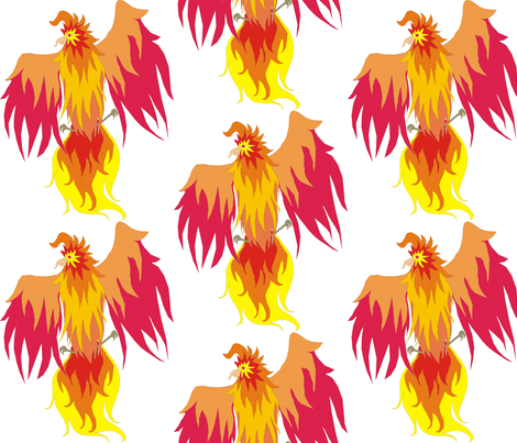 Phoenix fabric by kaito_kun92 on Spoonflower - custom fabric