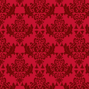 Delicious Damask in Red