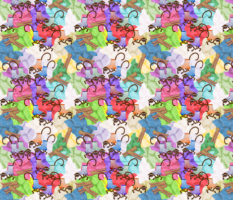 ©2011 The Lost Sock Monkeys fabric by glimmericks on Spoonflower - custom fabric