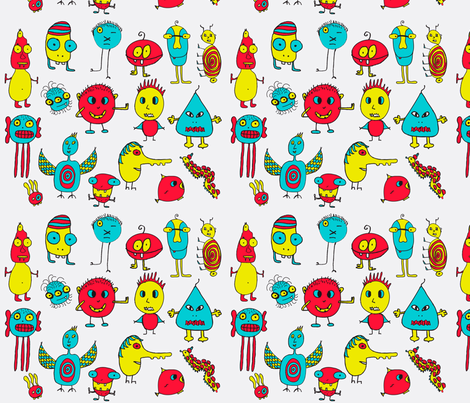 imaginary-animals fabric by geraldine_adams on Spoonflower - custom fabric