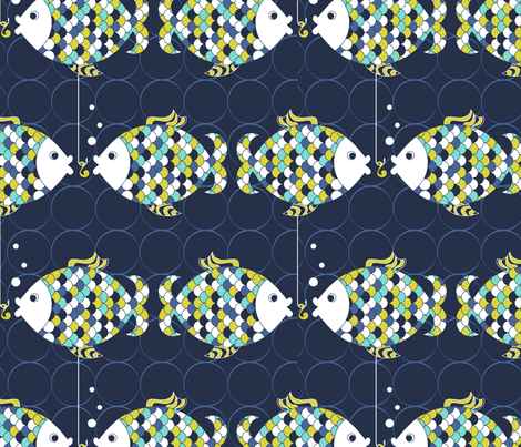 Fishy Lunch fabric by newmom on Spoonflower - custom fabric