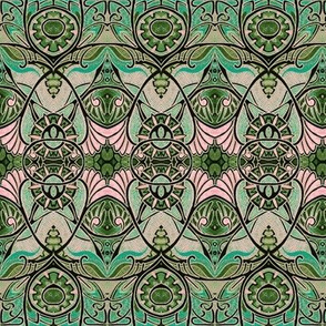 Victorian Gothic (green/pink negative)