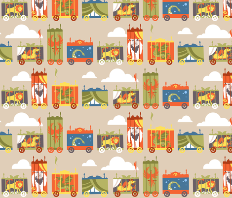 Mythical beast sideshow  fabric by theboerwar on Spoonflower - custom fabric