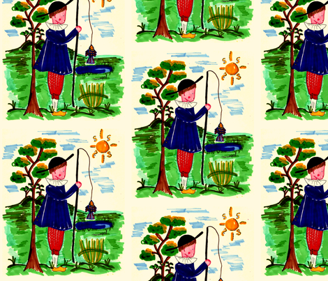 Fisherman fabric by tricia_lowenfield on Spoonflower - custom fabric