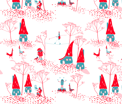 CURIOUS CIRCUS fabric by trcreative on Spoonflower - custom fabric