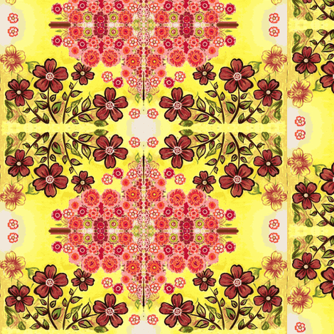 caleidoscopic tiled flowers fabric by vinkeli on Spoonflower - custom fabric