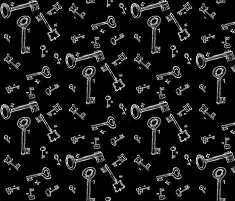 lucky keys white on black