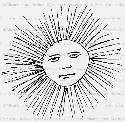 sad man sun on grey