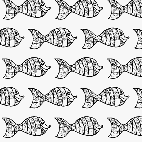 doodly little fish fabric by mimi&me on Spoonflower - custom fabric