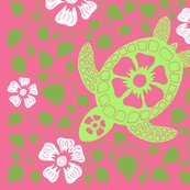 Rrrrrhawaiian_quilt_v10_white_flowers_on_turtle_rectangle_greens_and_pink2.ai_shop_thumb