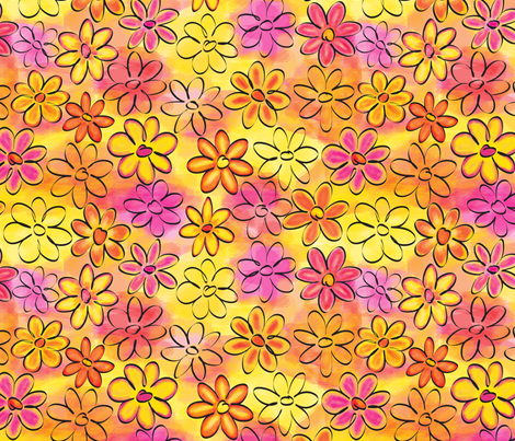 Daisies fabric by coloroncloth on Spoonflower - custom fabric