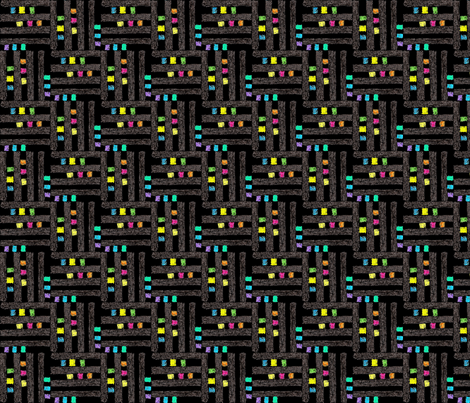 Elite black  fabric by andibird on Spoonflower - custom fabric