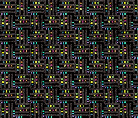 Elite black  fabric by andibird on Spoonflower - custom fabric