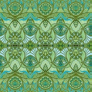 Victorian Gothic (pale green negative)