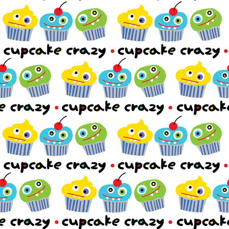 Cupcake Crazy fabric by andibird on Spoonflower - custom fabric
