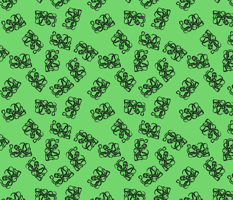Green Octopus fabric by corinnevail on Spoonflower - custom fabric