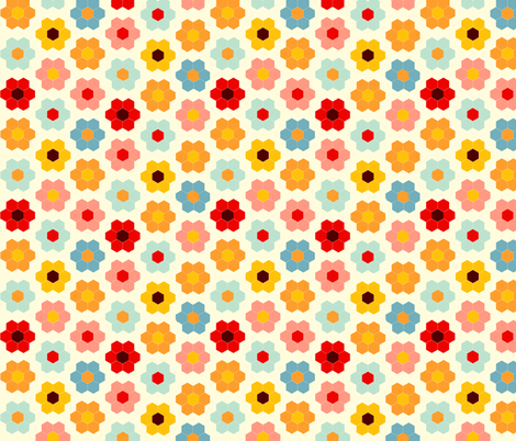 Flower Garden Cheater fabric by laurawilson on Spoonflower - custom fabric