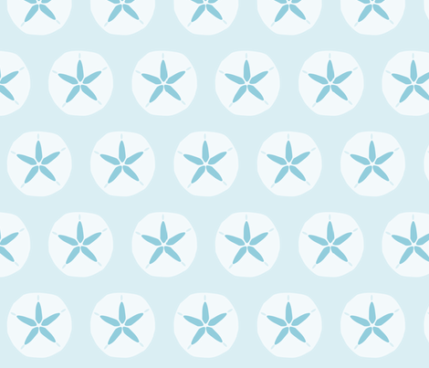 blue_sanddollar fabric by slkanitz on Spoonflower - custom fabric
