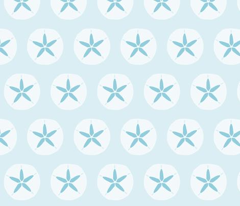 blue_sanddollar fabric by slkanitz on Spoonflower - custom fabric