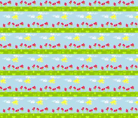 Puzzle Garden fabric by ninjaauntsdesigns on Spoonflower - custom fabric