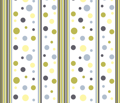 Dots&Stripes fabric by createdgift on Spoonflower - custom fabric