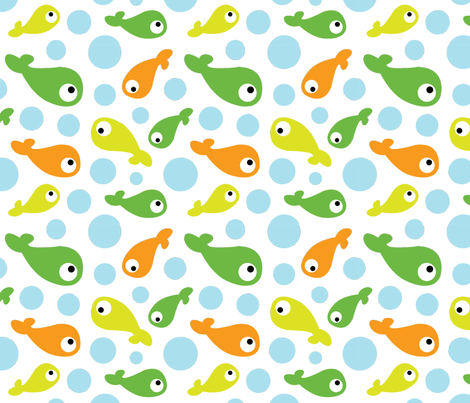 Something's Fishy fabric by amystein on Spoonflower - custom fabric