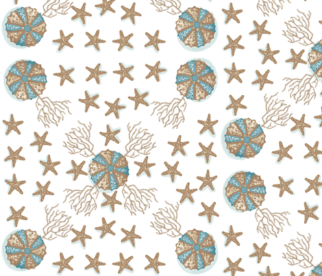 Sea Stars and Urchins fabric by deb*g on Spoonflower - custom fabric